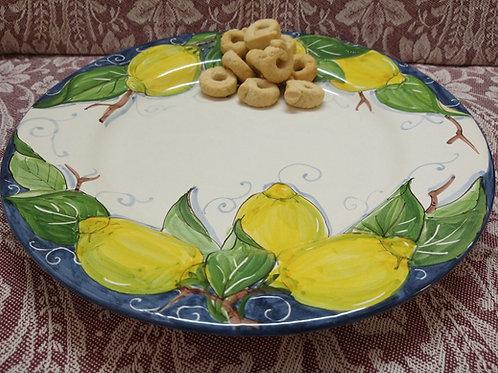 Rampini 28cm Dinner Plate Limoni Gubbio