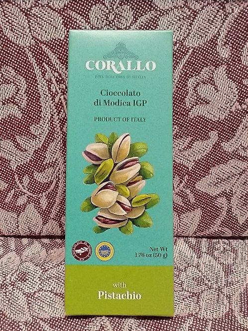 Corallo Pistachio Chocolate Bar
