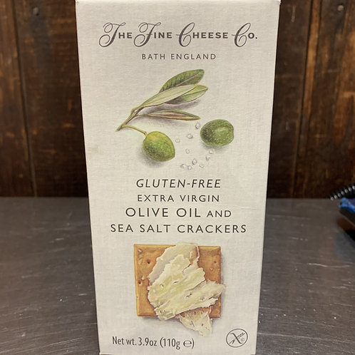 Gluten Free Olive Oil and Sea Salt Crackers