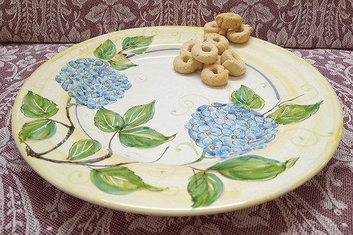 Rampini 28cm Dinner Plate Blue Hydrangea