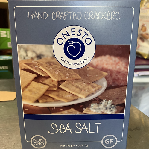 Onesto Gluten Free Sea Salt Crackers