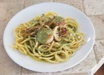 Stringozzi Limone with Pistachio Pesto and Scallops