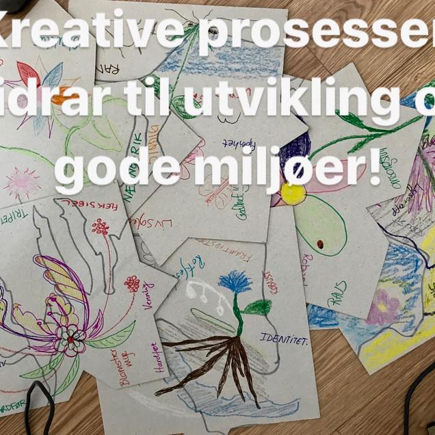 Kreativitet bidrar til bevegelse og drømmer.