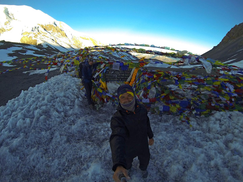 На перевале Thorung La, 5416м