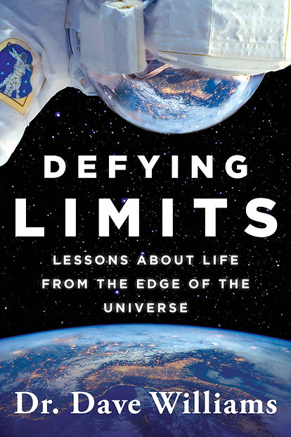 Cover of Defying Limits memoir of Dr. Dave Williams Candian astronaut, Simon and Schuster Canada.