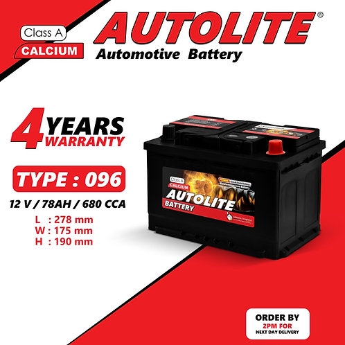 AUTOLITE BATTERY TYPE 096