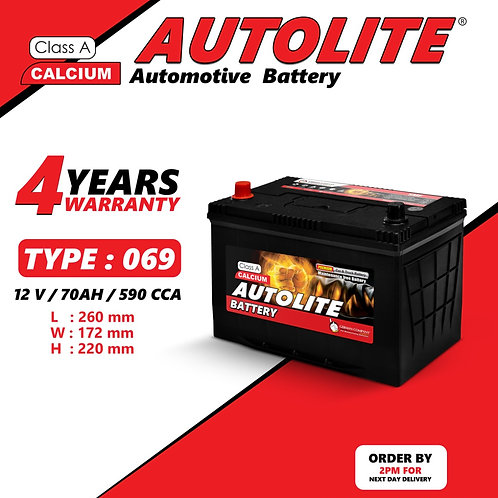 AUTOLITE BATTERY TYPE 069