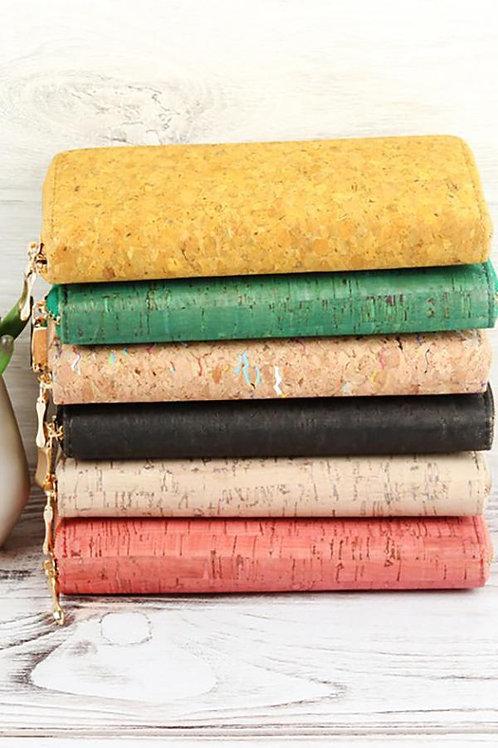 Hdg2723 - Cork Single Zipper Wallet