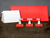 Barrier system, Lindpet, Tribox, Bad ground marker, frangible