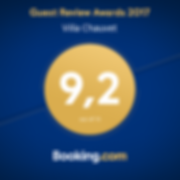 Guest Review Awards 2017 - Booking.com - villa Chauvet