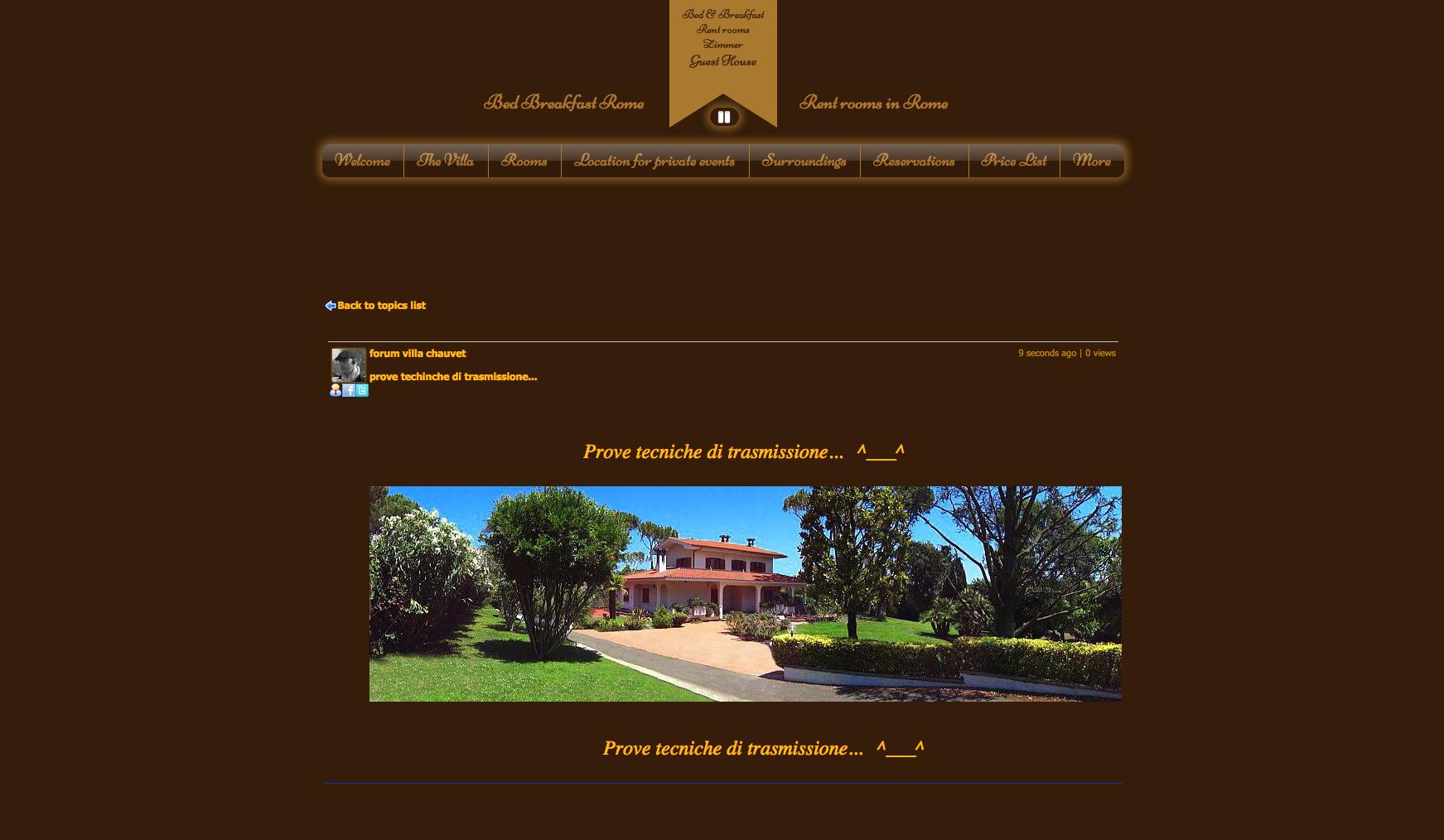 FORUM Villa Chauvet