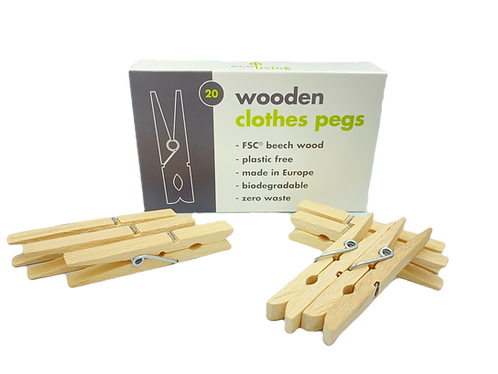 Wooden Clothes Pegs 20pack FSC
