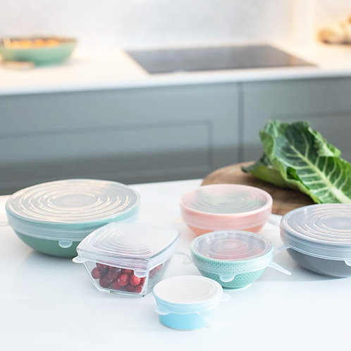 Reuseable Silicone Stretch Lids Set of 6