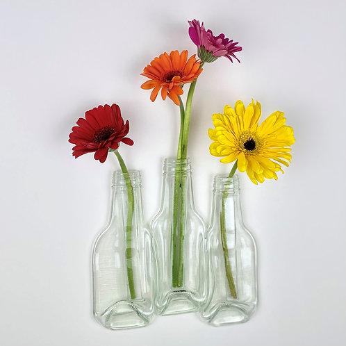 3 BOTTLES - WALL HANGING FLOWER VASE DISPLAY
