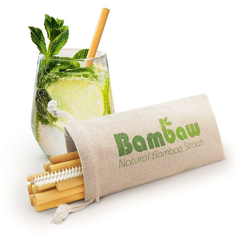Bamboo Re-useable Straws 12 Pack