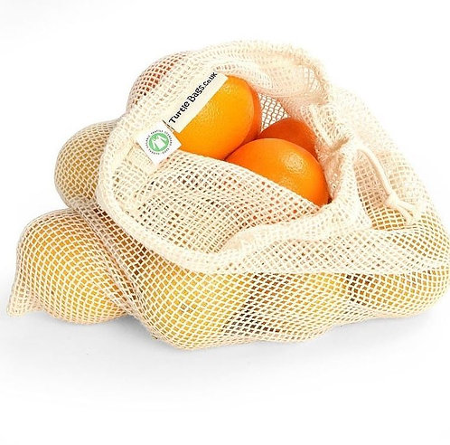 Organic Cotton Mesh Produce Bag - Pair