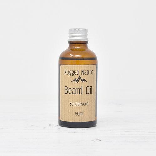 Rugged Nature Beard Oil, Sandalwood 50ml