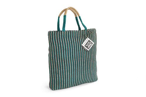 Jute Shopping Bag - Green - Turtle Bags
