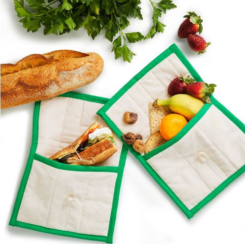 Lunch Swag - Organic Cotton Washable Lunch Bag