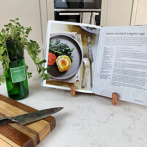 COPPER PIPE COOK BOOK / TABLET STAND