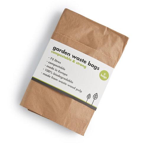 Compostable Garden Waste / Bin Bags 5 x 75L