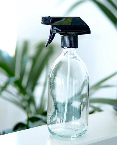 Reusable Clear Glass Spray Bottle 500ml