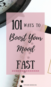 Sometimes when I get in a bad mood, or a funk, it takes me a while to brainstorm ways to break me out of it. A lot of the time I don't even feel like trying to boost my mood, so that's why I created a list of ways you can boost your mood- fast. This way you can easily motivate yourself to boost your mood, and feel better right away!