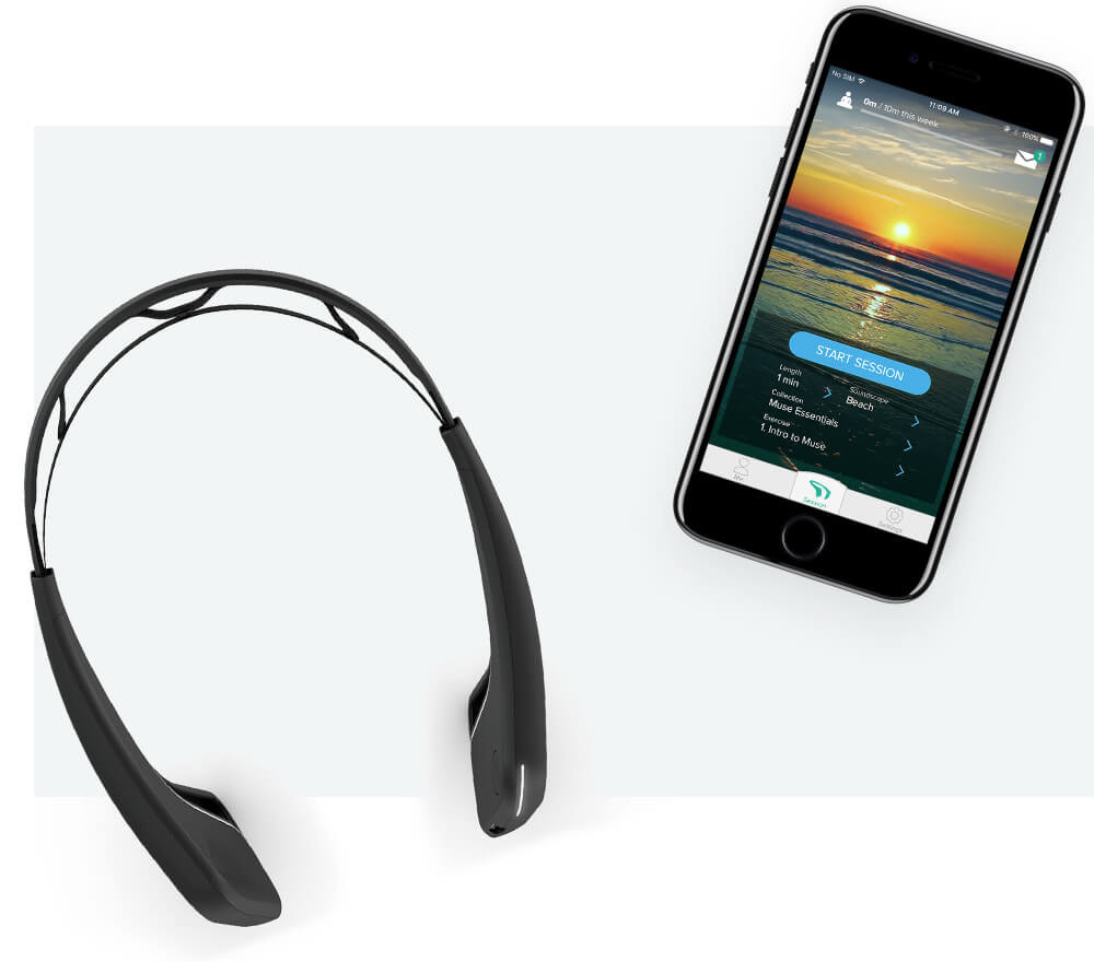 Muse headband for meditation, mental health, mindfulness, psychology technology