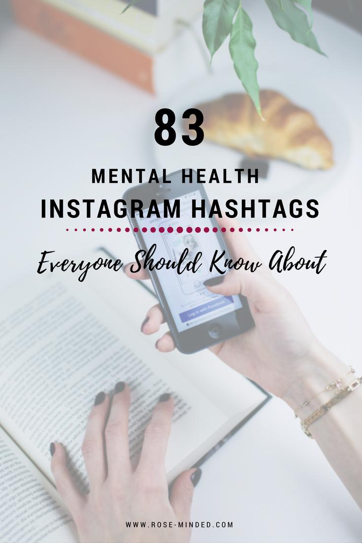 mental health blogger hashtags
