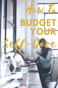 how to budget your self-care, spending habits on health, planner, free download