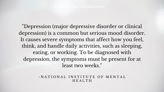 major depressive disorder NIMH