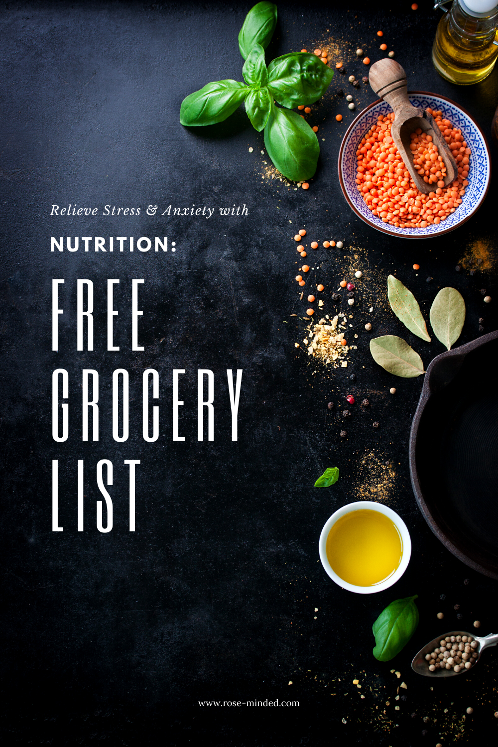 stress management grocery list nutrition