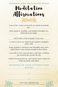 personalized meditaion affirmations
