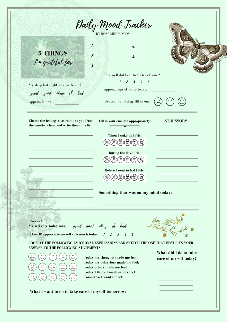 Garden daily mood tracker free download