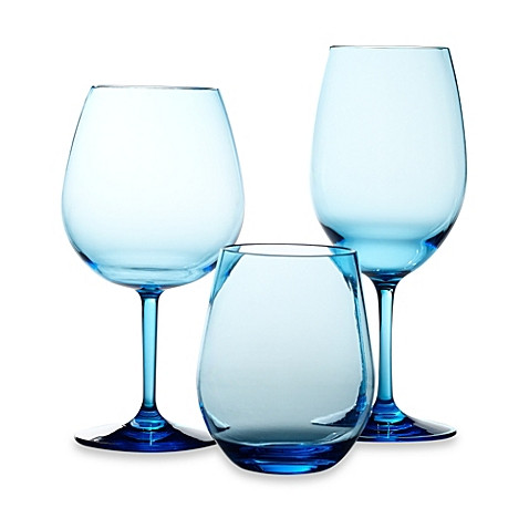 cool blue glassware bed bath & beyond