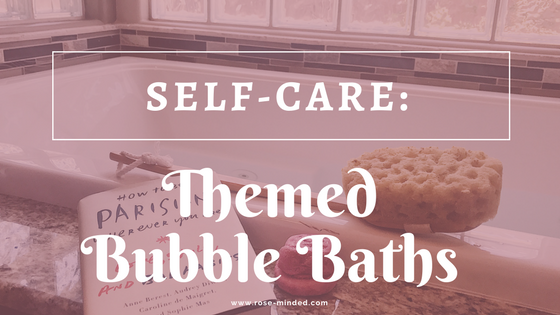 self-care bubble bath