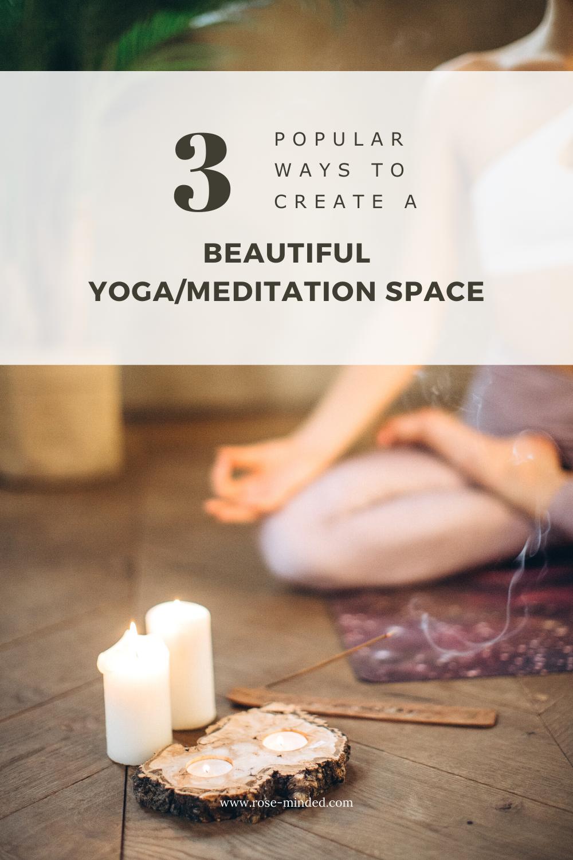 Create a Yoga/Meditation Space, Decor