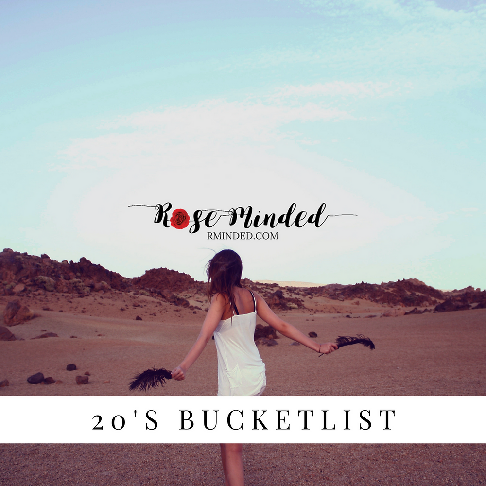 Twenties Bucket List