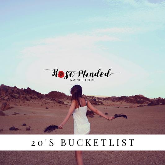20s Bucket List