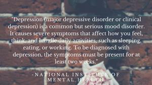 major depressive disorder NIMH