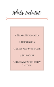 Bipolar Disorder, requires the management of two mood episodes, mania (or hypomania) and depression. Bipolar Disorder is a constant battle, and oftentimes it's hard to find long-term aides in your treatment. 60 days of mental health journal prompts for Bipolar Disorder are now available on Rose-Minded!