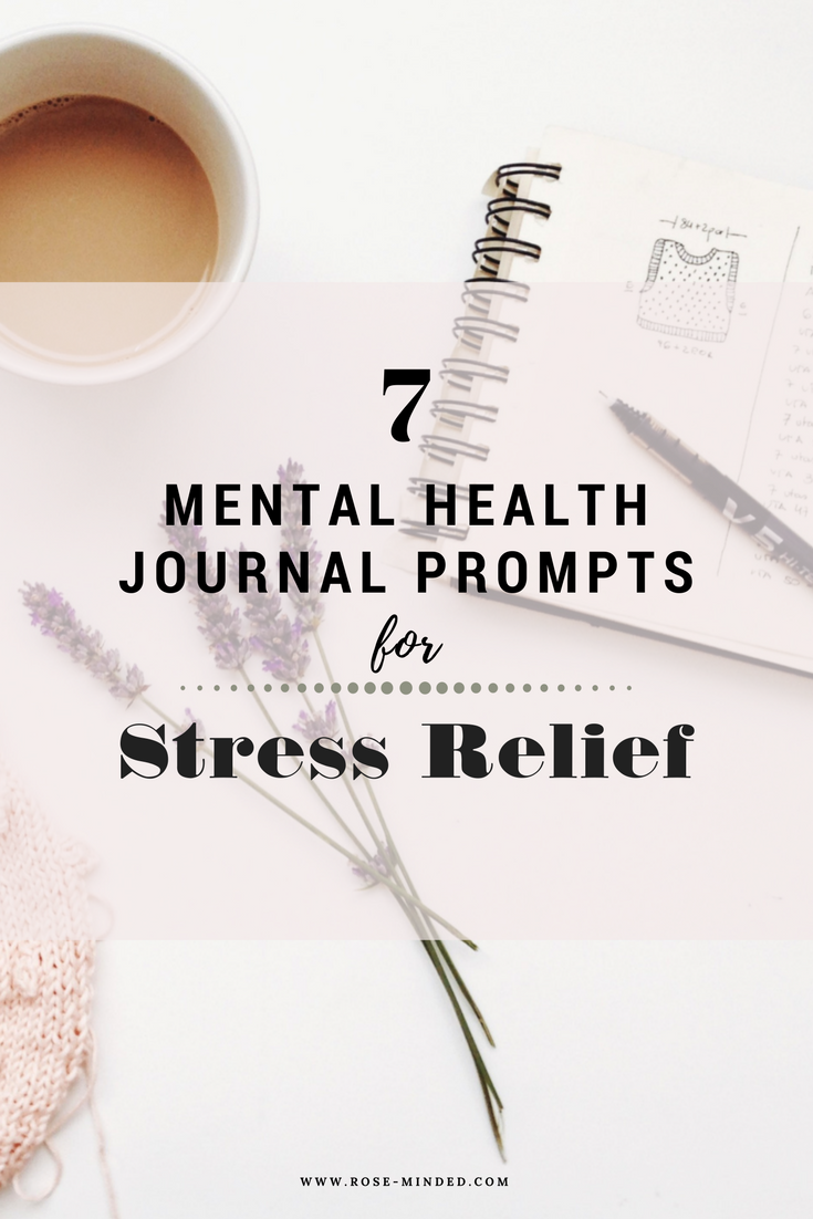 mental health journal prompts for stress relief and anxiety