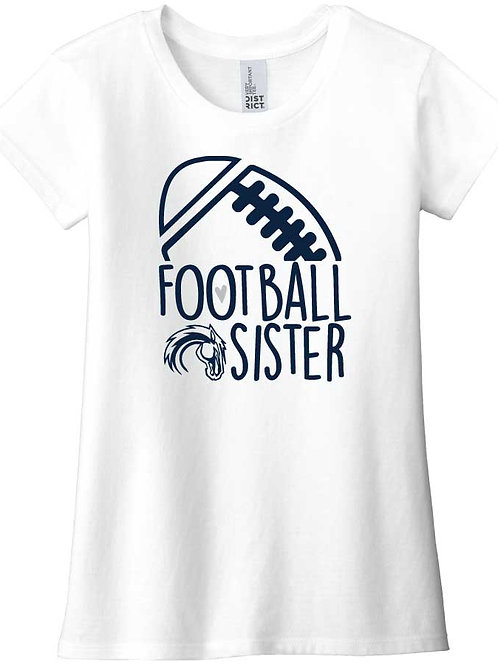 Girls Football Sister Tee