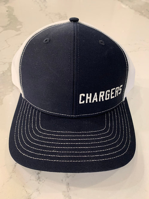 Navy/White Charger Trucker Hat