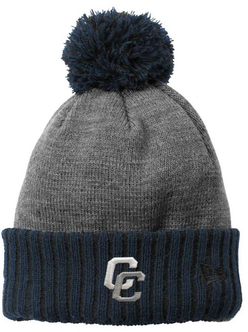 Charger Beanie with Pom