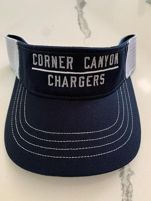 Navy/White Corner Canyon Visor