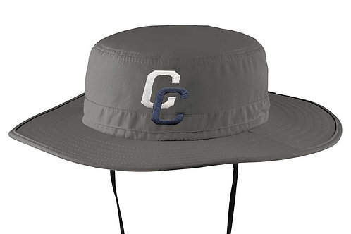Grey CC Wide Brim Hat
