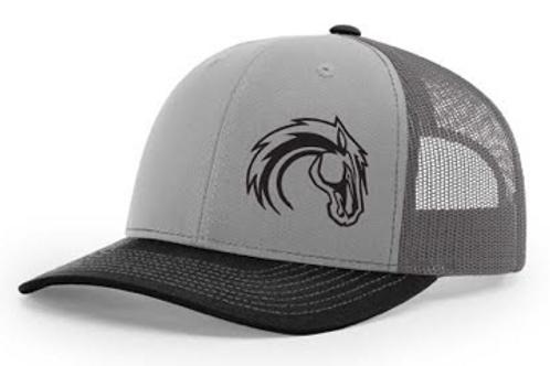 Black/Grey/Charcoal Horse Hat