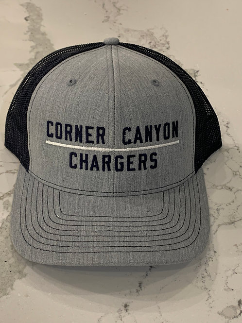 Grey/Black Corner Canyon Chargers Hat
