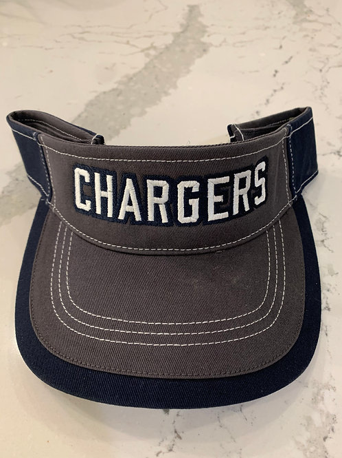 Grey/Navy Chargers Visor